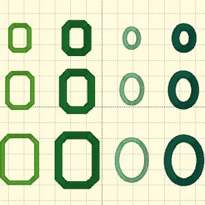 Emerald & Oval Outlines - Embroidery Files