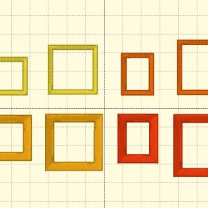 Square & Rectangle Outlines - Embroidery Files