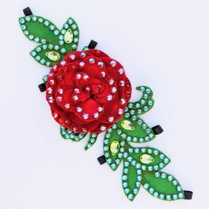 Floral Headpiece with Leaf Base - Embroidery Files & Instructions