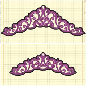 Tiara 2 (2 styles/4 sizes) - Embroidery Files