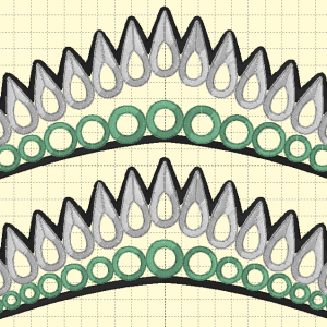 Tiara 3 (2 sizes) - Embroidery Files